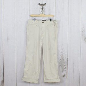 HORNY TOAD Wide Leg Split Hem Cropped Pants Sz 10